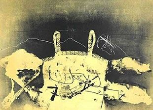 Lithographie Tàpies - Dentelle