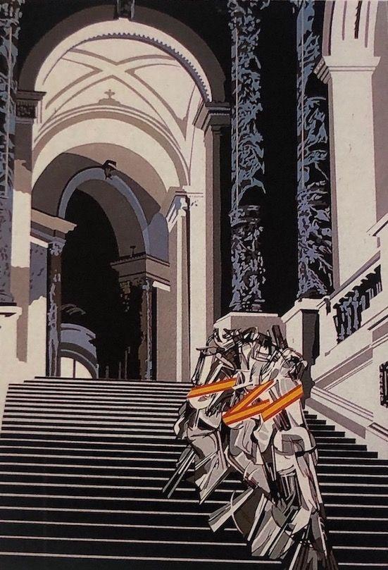 Sérigraphie Equipo Cronica - Denudo bajando la escalera (carpeta composiciones)