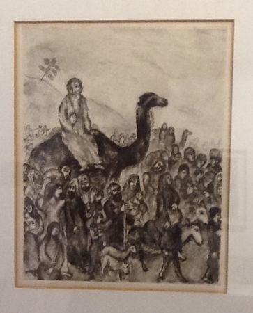 Eau-Forte Chagall - Depart de Jacob pour l'Egypte