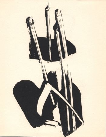 Lithographie Soulages - Depaysage