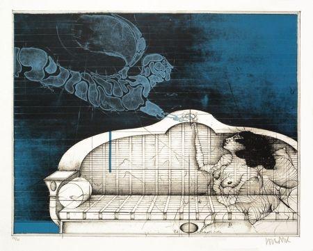 Lithographie Wunderlich - Der Blaue Angel