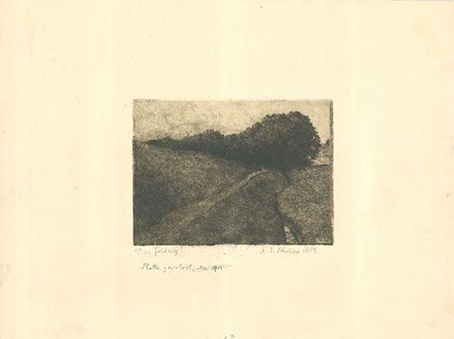 Gravure Philipp - Der Feldweg