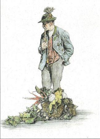 Gravure Geissler - Der Gemüsemann / The Vegetable Seller