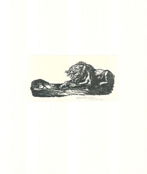 Gravure Sur Bois Klemm - Der Grosse und der Kleine