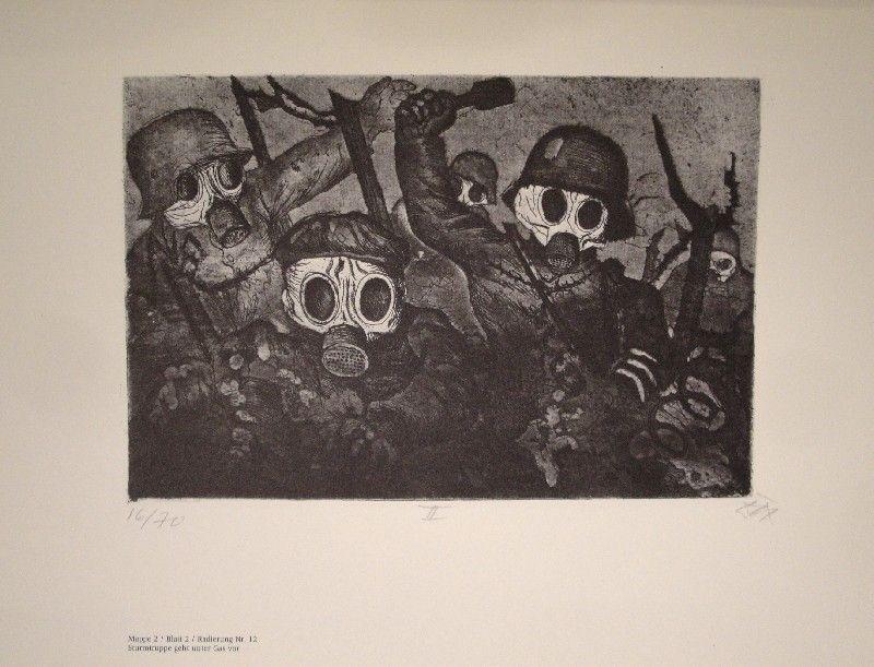 Livre Illustré Dix - Der Krieg