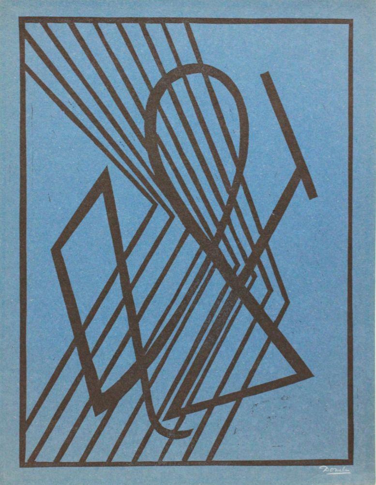 Linogravure Domela - Der Leser (The reader)