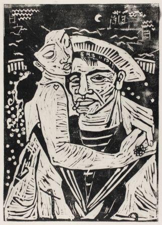 Gravure Sur Bois Hamerschlag - Der Matrose Girolamo  (The Sailor Girolamo)