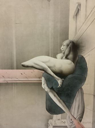 Lithographie Wunderlich - Der Morgen (nach Michelangelo)
