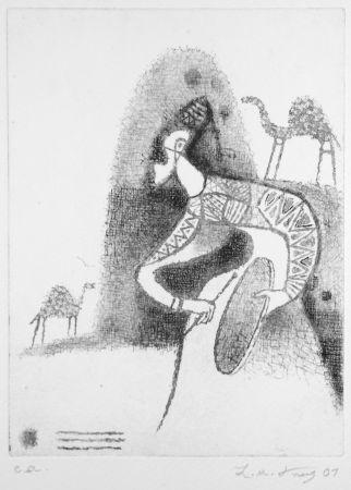 Eau-Forte Kouliev - Der Rufer der Dromedare