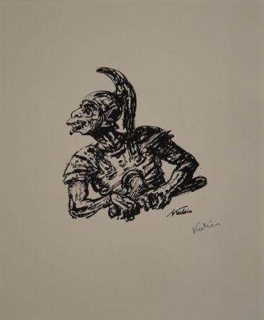Lithographie Kubin - Der Soldat, der Christi Seite durchstach.