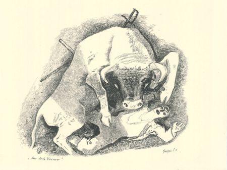 Lithographie Geiger - Der tote Torero / The Dead Bullfighter