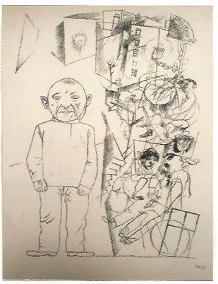 Lithographie Grosz - Der zuchthausler (el convicto)