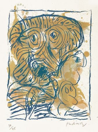 Lithographie Alechinsky - Derniers pas