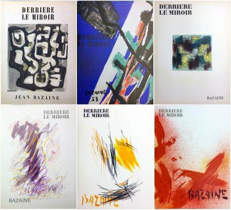 Livre Illustré Bazaine - DERRIÈRE LE MIROIR. BAZAINE. Collection complète des 6 volumes de la revue DERRIÈRE LE MIROIR consacrés à Jean Bazaine (parus de 1949 à 1975).