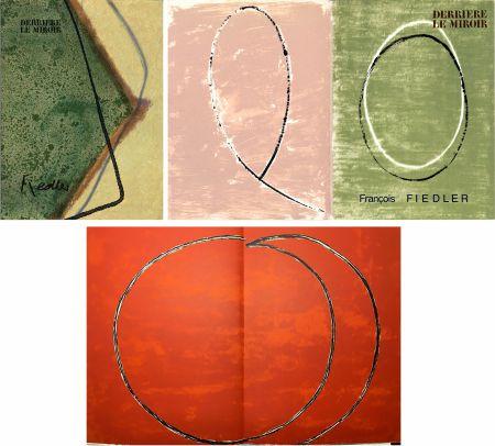 Livre Illustré Fiedler - DERRIÈRE LE MIROIR: COLLECTION COMPLÈTE des 4 volumes de la revue  consacrés François Fiedler: 26 LITHOGRAPHIES ORIGINALES (de 1959 à 1974).