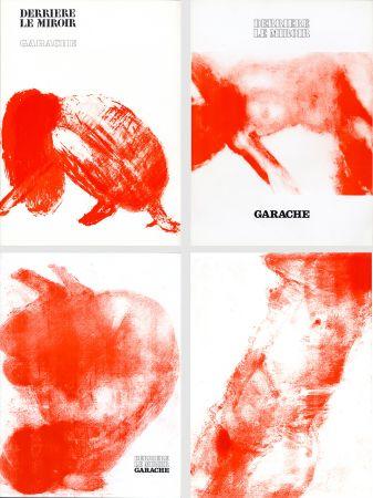 Livre Illustré Garache - DERRIÈRE LE MIROIR. GARACHE. Réunion des 3 numéros de la revue consacrés à Claude Garache (de 1975 à 1980).