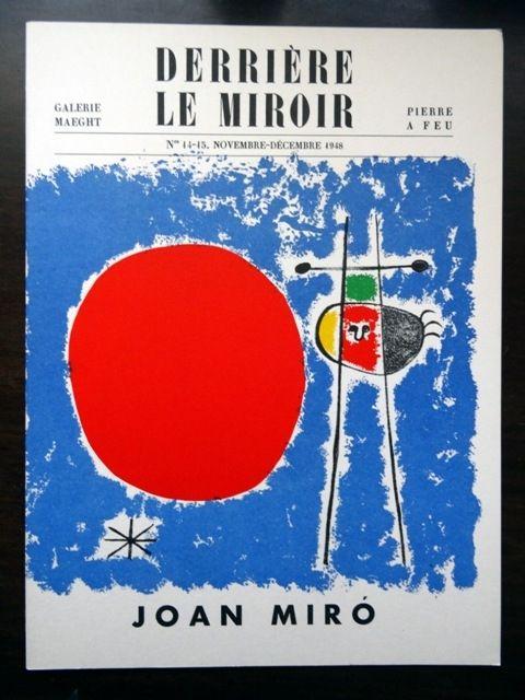 Livre Illustré Miró - DERRIÈRE LE MIROIR N°14 - 15