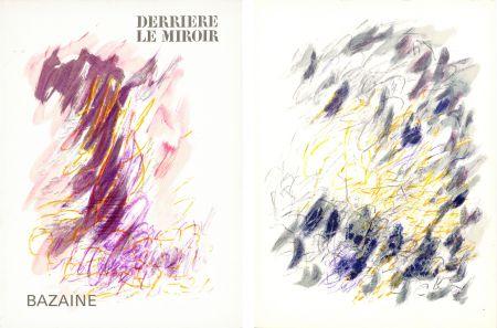 Livre Illustré Bazaine - DERRIÈRE LE MIROIR N°170. Mars 1968. 6 LITHOGRAPHIES ORIGINALES EN COULEURS.