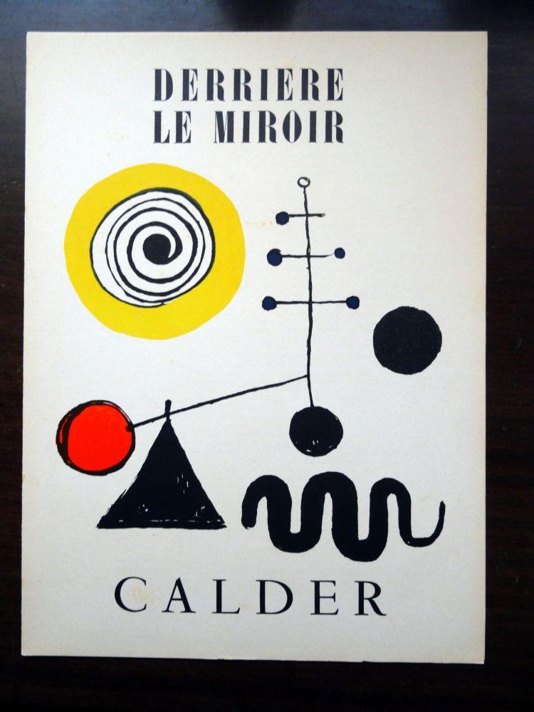 Livre Illustré Calder - DERRIÈRE LE MIROIR N°31