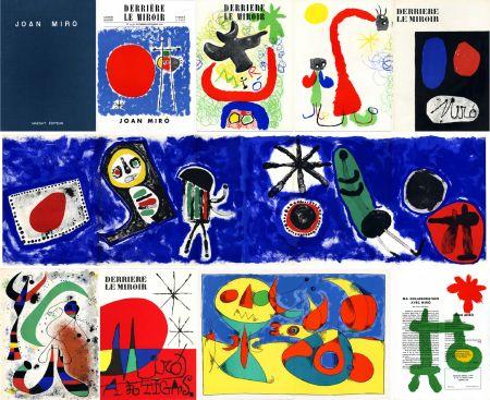 Livre Illustré Miró - DERRIÈRE LE MIROIR n° 14-15 (Nov-Décembre 1948) + n° 29-30 (Mai 1950) + n° 57-58-59 (Juin 1953) + n° 87-88-89 MIRO ARTIGAS (Juin-Juillet-Août 1956). 25 LITHOGRAPHIES ORIGINALES. ALBUM MAEGHT ORIGINAL.
