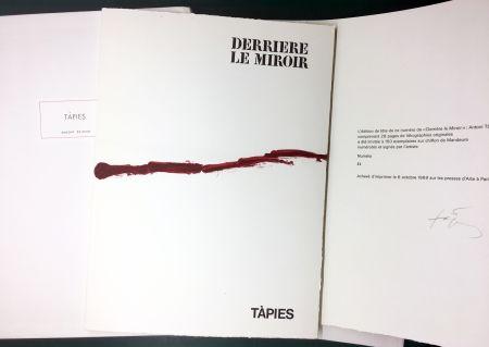 Livre Illustré Tàpies - DERRIÈRE LE MIROIR n° 180 . TÀPIES . 1969. TIRAGE DE LUXE SIGNÉ.
