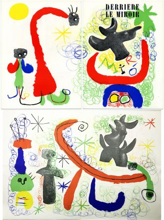 Lithographie Miró - DERRIÈRE LE MIROIR n° 29-30 - MIRO. PARLER SEUL - Mai 1950.