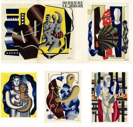 Lithographie Leger - DERRIÈRE LE MIROIR N° 79-80-81. FERNAND LÉGER. Octobre 1955