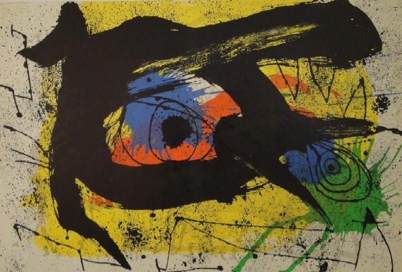 Lithographie Miró - DERRIÈRE LE MIROIR, No 203. Miró.