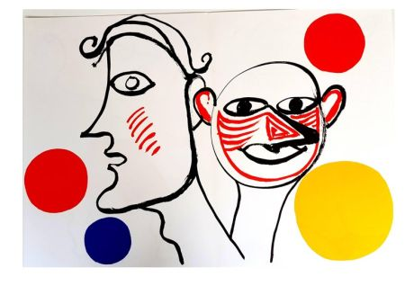 Lithographie Calder - Derrière le Miroir