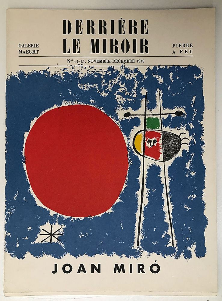 Livre Illustré Miró - Derrière le Miroir 14-15, Novembre 1948