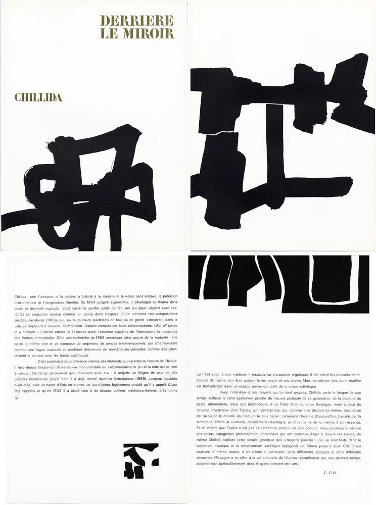 Livre Illustré Chillida - Derrière le Miroir n° 143 . CHILLIDA . Avril 1964.
