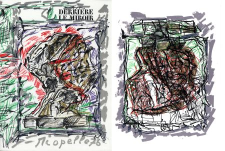 Livre Illustré Riopelle - Derrière le Miroir n° 218. RIOPELLE. 4 LITHOGRAPHIES ORIGINALES. Mars 1976.