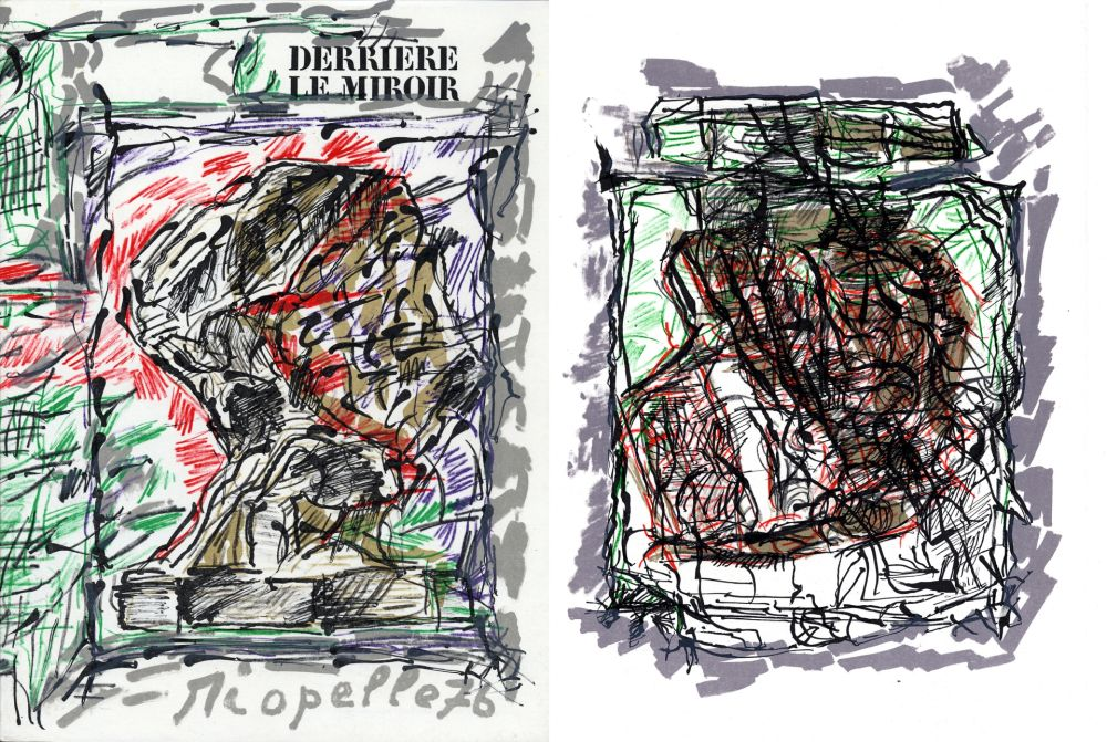 Livre Illustré Riopelle - Derrière le Miroir n° 218. RIOPELLE. Mars 1976.