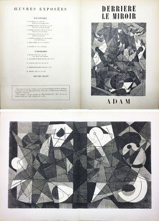 Gravure Adam - Derrière le Miroir n° 24. ADAM .1949. Gravure originale.