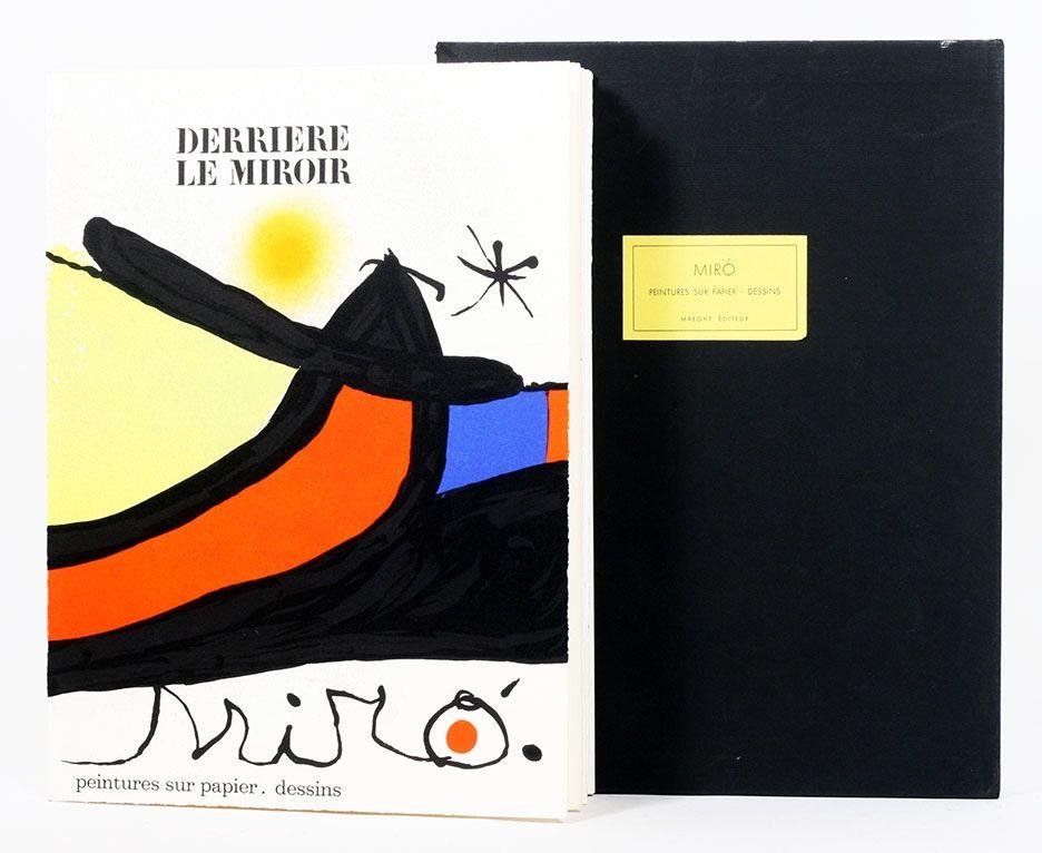 Livre Illustré Miró - Derriére le Miroir 193/194. Peintures Sur Papier, Dessins