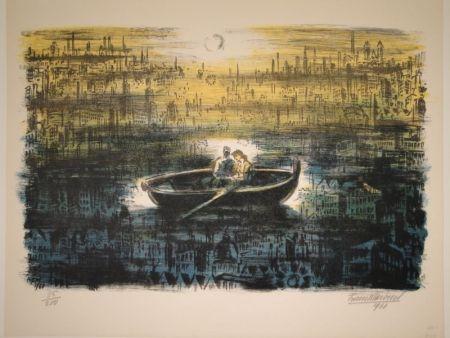 Lithographie Masereel - Des amoureux