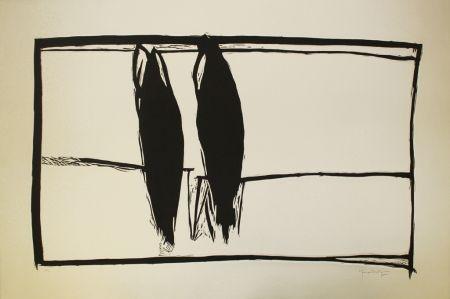 Linogravure Hernandez Pijuan - Des de la finestra II (From the Window II)