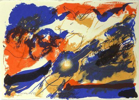 Lithographie Guinovart - Des dels blaus