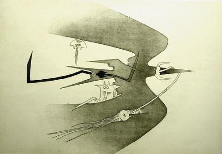 Eau-Forte Et Aquatinte Lam - Des hommes- oiseaux, des nageurs-courbes
