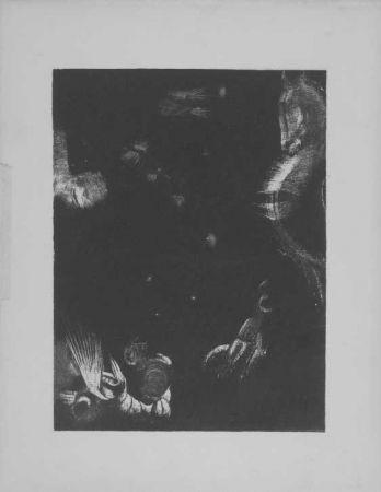 Lithographie Redon - Des peuple divers...