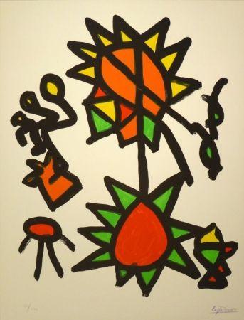 Lithographie Ionesco - Des Ronds et de Carrés