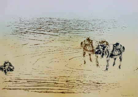 Lithographie Cremonini - DESERT