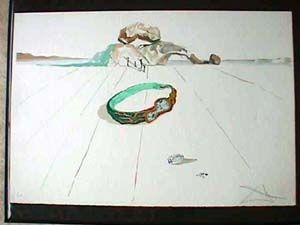 Lithographie Dali - Desert Bracelet Or Essence Of Time