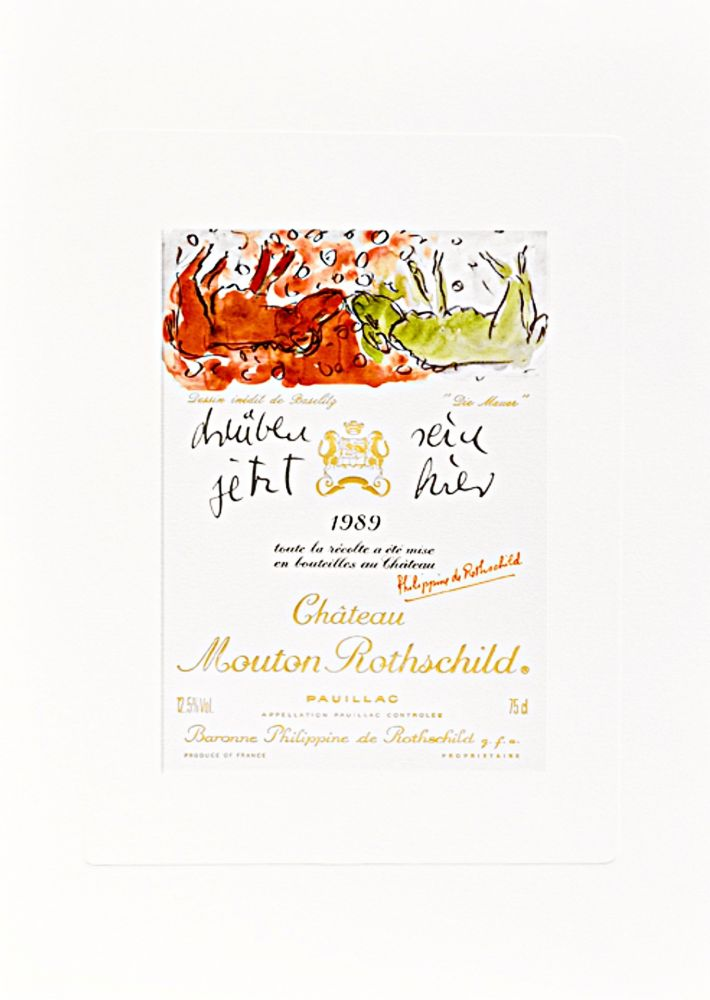 """Lithographie Baselitz -  Design de Georg Baselitz - """"Die Mauer"""""""