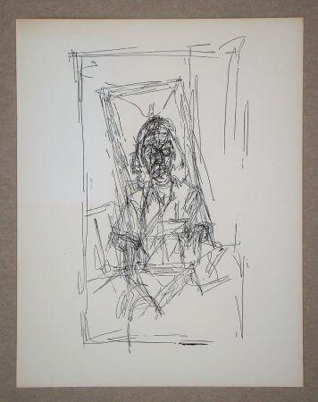 Lithographie Giacometti - Dessin, 1954