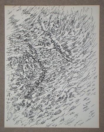 Lithographie Michaux - Dessin, 1955