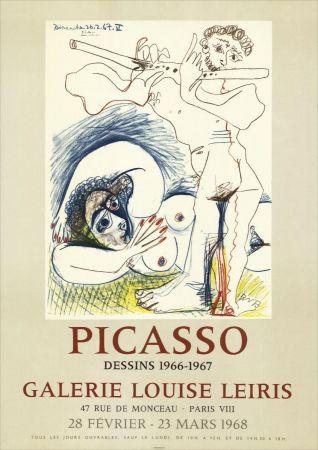 Lithographie Picasso - Dessins 1966-67 à la Galerie Louise LEIRIS