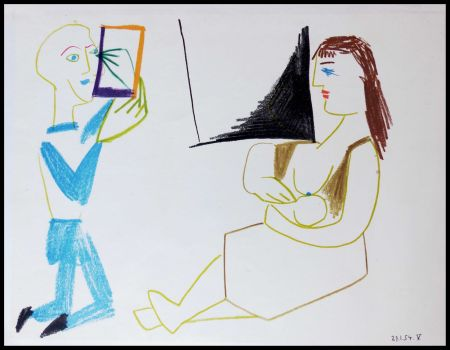 Lithographie Picasso - DESSINS DE VALLAURIS II