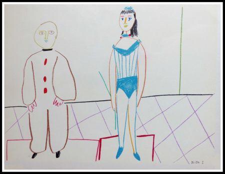 Lithographie Picasso - DESSINS DE VALLAURIS IX