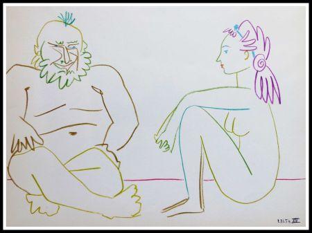 Lithographie Picasso - DESSINS DE VALLAURIS VII